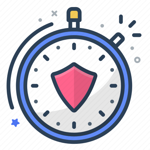 clock, insurance, keeper, lock, safe, secure, stopwatch icon