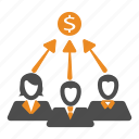 aproach, money, team, teamwork, users icon