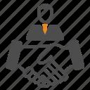 deal, hand, team, teamwork, users icon