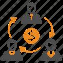 money, team, teamwork, users icon