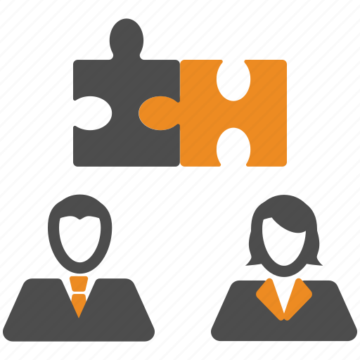 puzzle, team, teamwork, users icon