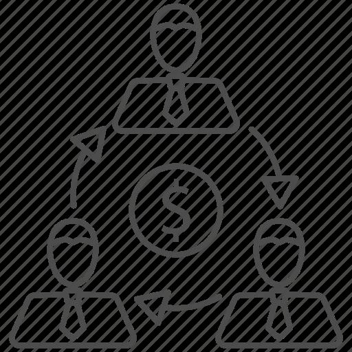 business, money, team, teamwork icon