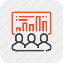 chart, data, efficiency, management, people, staff, statistics icon