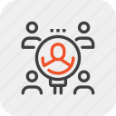 employee, find, magnifier, people, recruitment, resources, search icon