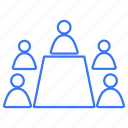 group, meeting, team, work icon