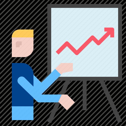 graph, presentation, training icon
