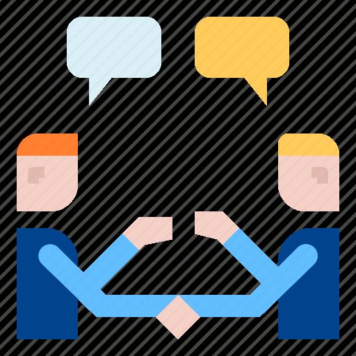 conversation, handshake, teamwork icon