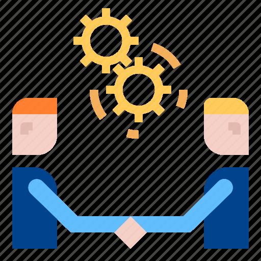 Co, handshake, teamwork icon
