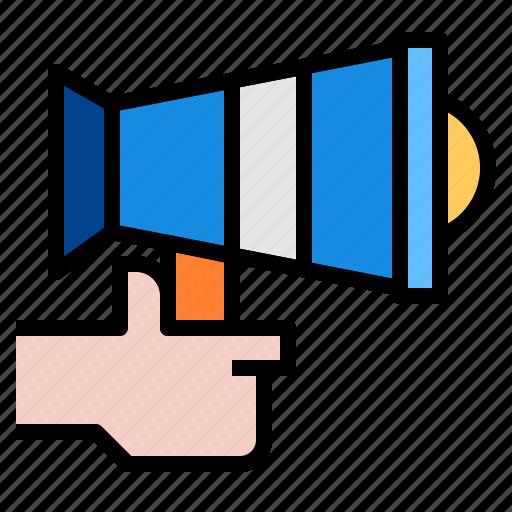 Promotion, speaker, advertising icon