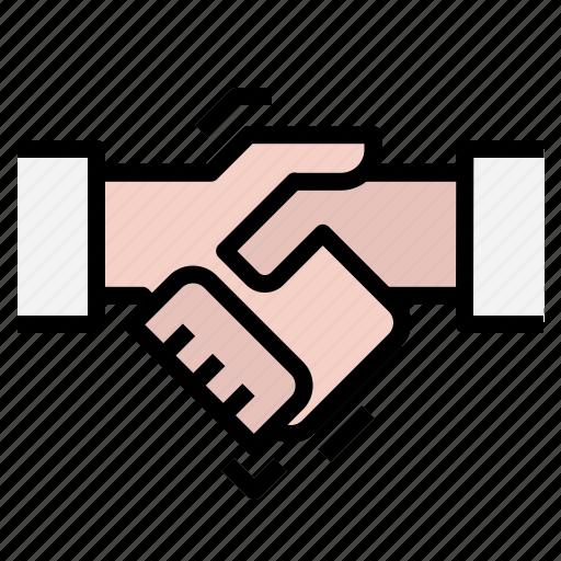 collaboration, handshake icon
