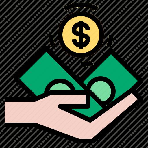 dollar, income, profit icon