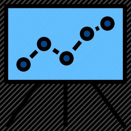graph, presentation, static icon