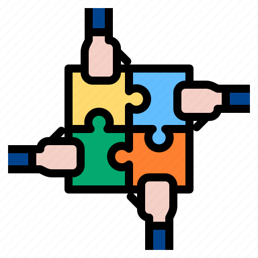 puzzle, strategy, teamwork icon