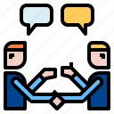 conversation, handshake, teamwork icon