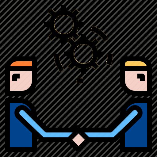 co, handshake, teamwork, working icon