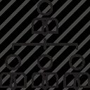 company, company structure, organization, structure icon icon
