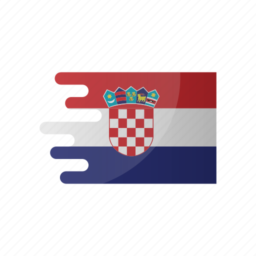 country, croatia, flag, group d, team icon