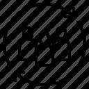 management, rotation, team, teamwork, update icon