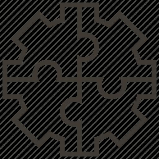 business, jigsaw, organization, solution, strategy, team, teamwork icon