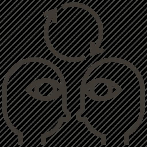 analytics, brainstorm, business, organization, strategy, team, teamwork icon