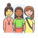 collaboration, cooperate, coworker, crew, full, group, teams, teamwork icon