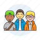 crew, group, teams, teamwork, collaboration, cooperate, half, coworker icon
