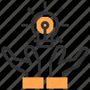 analytics, business, idea, organization, solution, team, teamwork icon