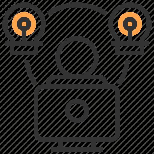 business, computer, idea, organization, solution, team, teamwork icon