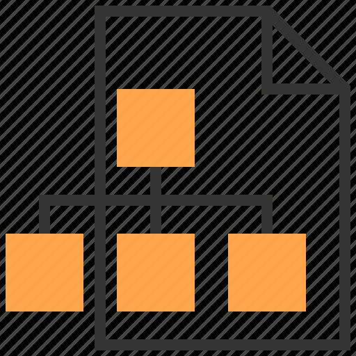 analysis, business, flowchart, organization, report, team, teamwork icon