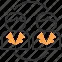 brainstorm, business, office, organization, people, team, teamwork icon