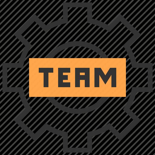analytics, business, gear, organization, team, teamwork icon