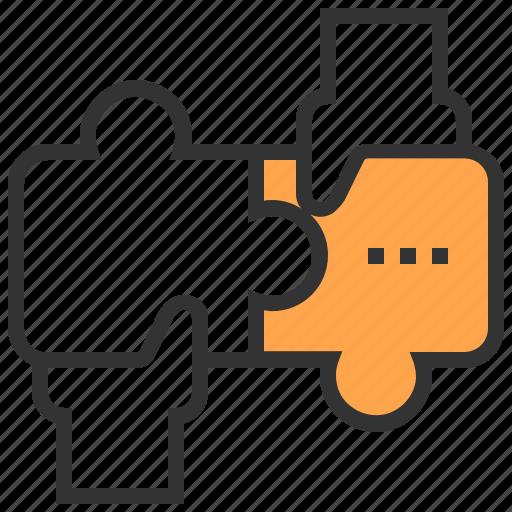 brainstorm, business, jigsaw, organization, solution, team, teamwork icon