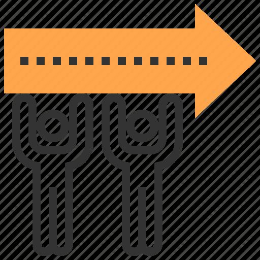 arrow, business, organization, target, team, teamwork icon