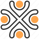 brainstorm, business, office, organization, seo, team, teamwork icon