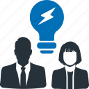 innovation, idea, creativity, brainstorm, brainstorming icon