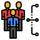 connection, agency, user, networking, business, people, arrows