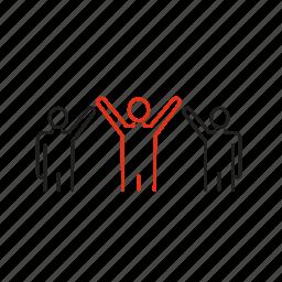 coherence, command, human, leadership, partnership, resource, team icon