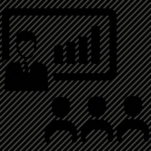 analysis, business meeting, presentation icon