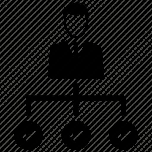 hierarchy, organization, teamwork icon