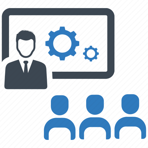 business meeting, presentation, solution, strategy icon