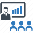analysis, presentation, teamwork icon