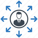 decision, direction, manager icon