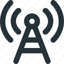 antenna, radio, signal, transmition, waves icon