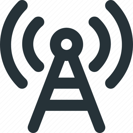 Antenna, radio, signal, transmition, waves icon - Download on Iconfinder