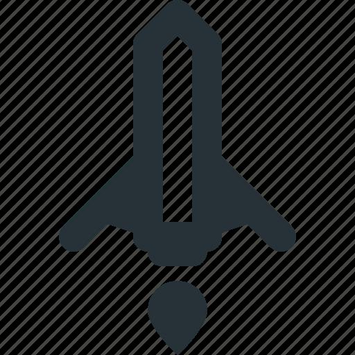 launch, notification, rocket, ship, space, tech icon
