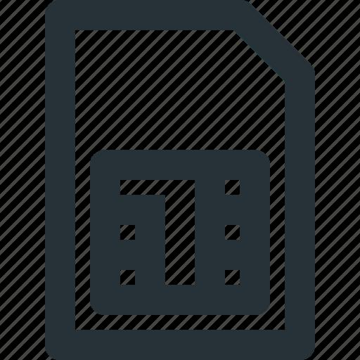 card, communication, data, network, phone, sim icon