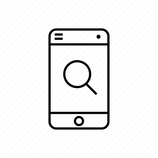 device, digital, display, gadget, search, smartphone, technology icon