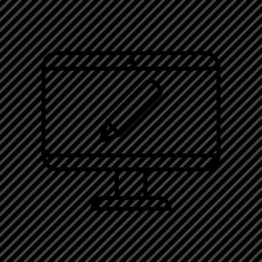 desktop, device, digital, display, edit, gadget, technology icon
