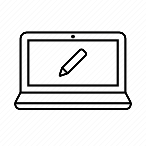 device, digital, display, edit, gadget, notebook, technology icon