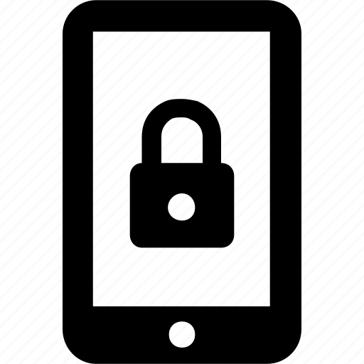 access, app, locked, mobile phone, security icon